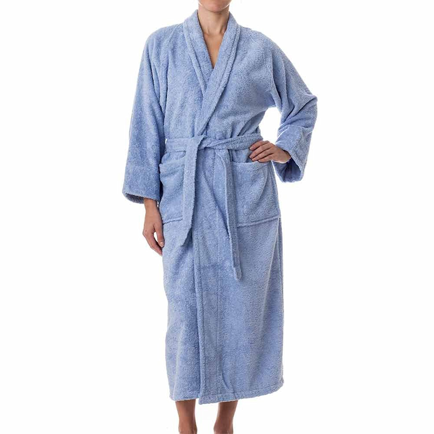 08dcf86a1d Get Quotations · eLuxurySupply Unisex Terry Cloth Bathrobe- 100% Long  Staple Cotton Hotel Spa Robes -