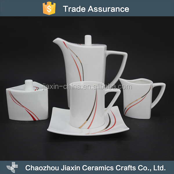 Wholesale elegant bone china moroccan tea set