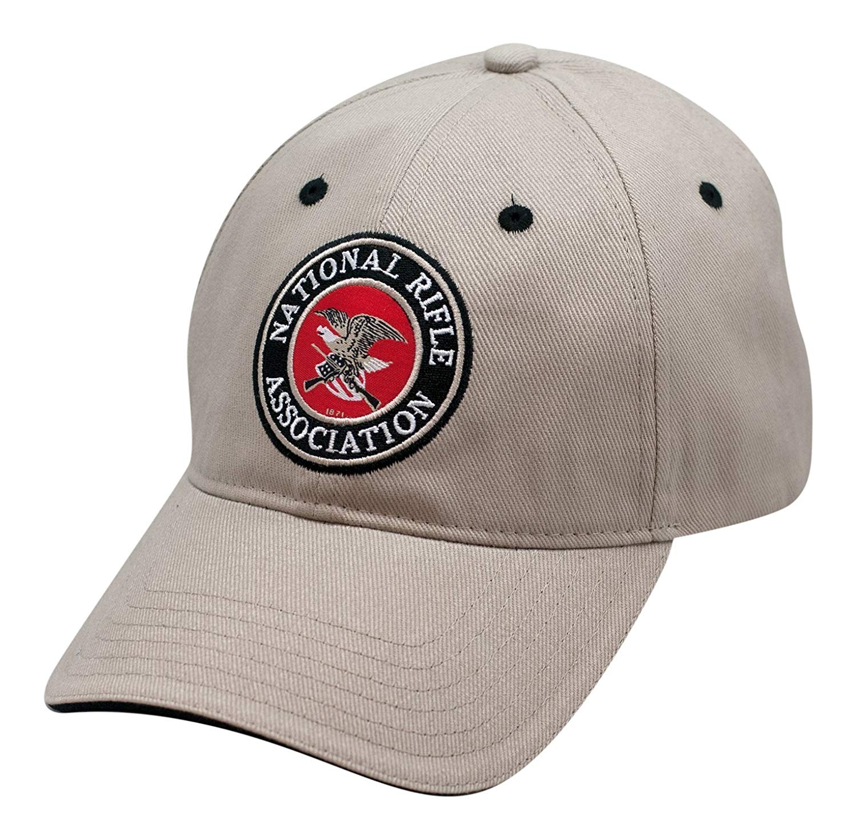 d4247820909 Get Quotations · NRA Applique Logo Khaki Cap - Officially Licensed