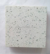 White quartz slabs, prefabricated kitchen and vanity countertops artificial stone