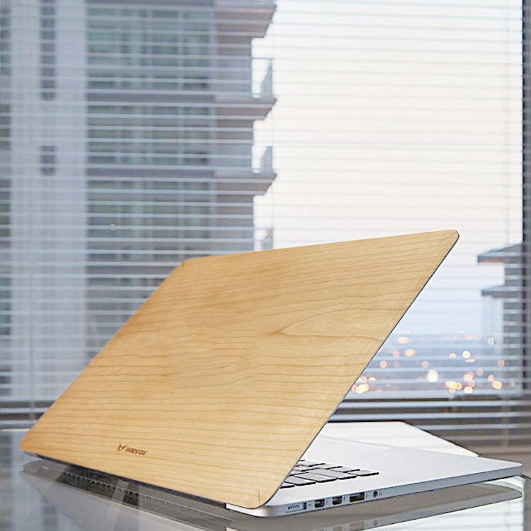 Quality wood customized size case skin for macbook air 13 inch skin