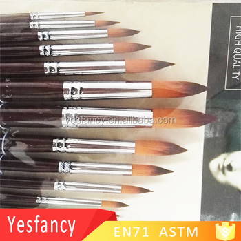 china factory stoving varnish handle face paint brushes for acrylic painting