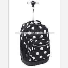 18 Inch Design Laptop Noiseless school bag Wheeled Rolling Backpack Luggage for Girls kids