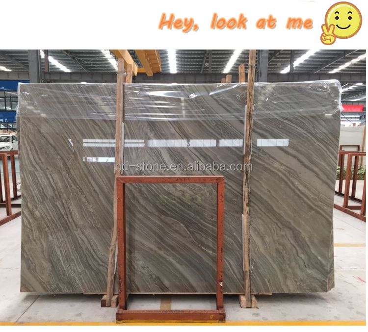 Polished and Book Match Chinese Kylin Wooden Grain Brown Marble Coffee Wood Marble Big Slabs