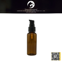 high quality clear plastic water bottles with black pump