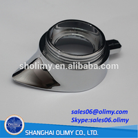 Plastic injection parts ABS trivalent chrome plated Cap