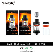 2016 latest craze sub ohm tank Smok TFV 8 Baby wholesale uk with T8 and Q2 coil