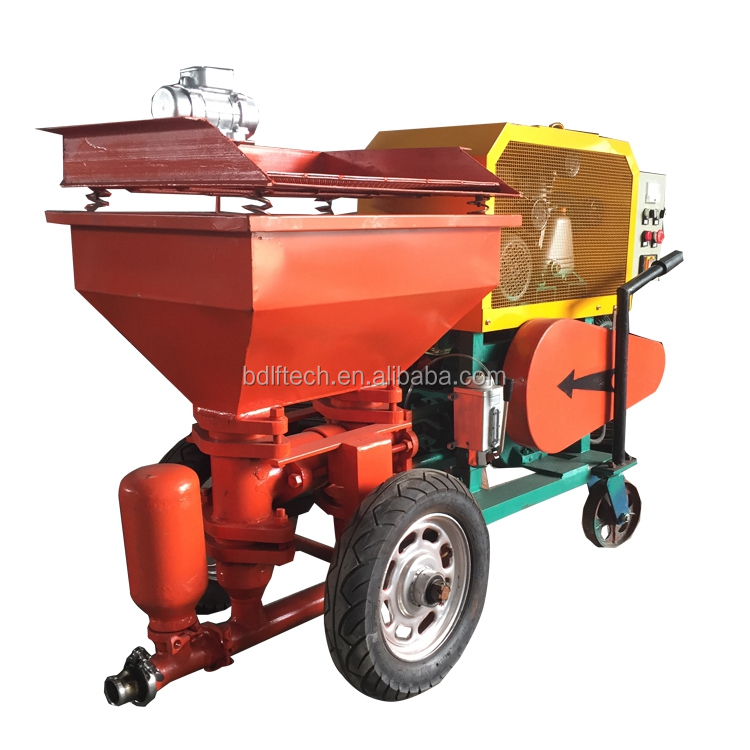diesel motor automatic sand cement mortar wall plaster machine/render spraying pump for construction