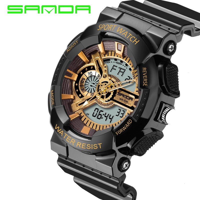 Mens watches SANDA 799 Fashion watch men G style waterproof shock sport military 5 colors digital luxury analog led watch