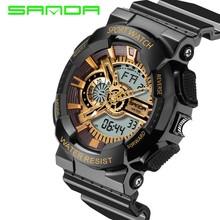 15389dc32 Mens relógios 2017 SANDA Moda homens  span class keywords  strong relógio