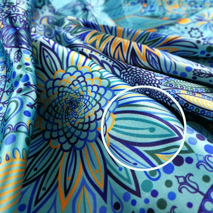Cheap Print Silk Satin Floral Fabrics For Clothing