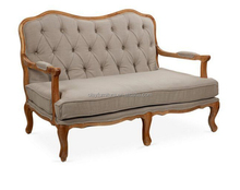 Wholesale french provincial wooden chesterfield sofa American barn house tufted couch