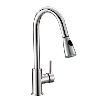 Chrome Brass Kitchen Sink Pull Down Faucet With Spray Head Upc