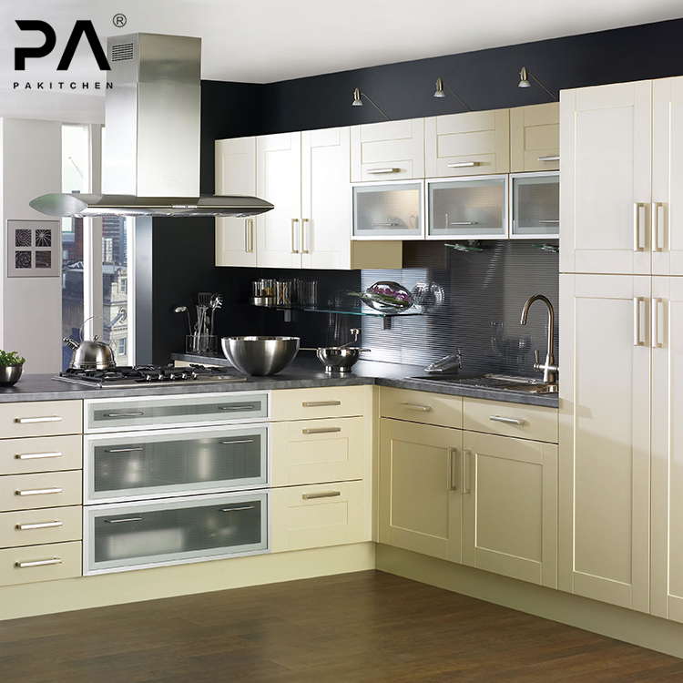 L Shaped Modular Aluminum Frame Glass Door Kitchen Cabinet Designs View Aluminum Glass Cabinet Doors Kitchen Pa Product Details From Guangdong Baishan Furniture Co Ltd On Alibaba Com