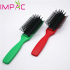 Color customizable high quality barber 7 row hair brush for slaon