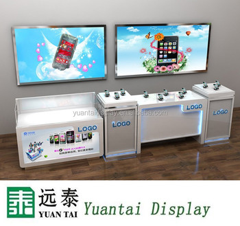 Mobile Phone Display Cabinet Showcase,counter For Shop Interior Design