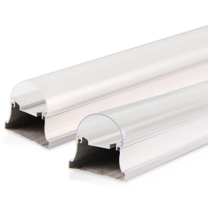 T8 plastic led light housing T8 led tube lampshade T5 extrusion aluminum led light housing led lighting factory