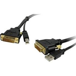"Comprehensive Standard Series Dvi Male To Male With Usb Cable 10Ft . Usb/Dvi For Satellite Receiver, Projector, Monitor, Video Device . 10 Ft . 1 X Dvi. D Male Digital Video, 1 X Type A Male Usb . 1 X Dvi. D Male Digital Video, 1 X Type B Male Usb . Shielding . Black ""Product Type: Hardware"