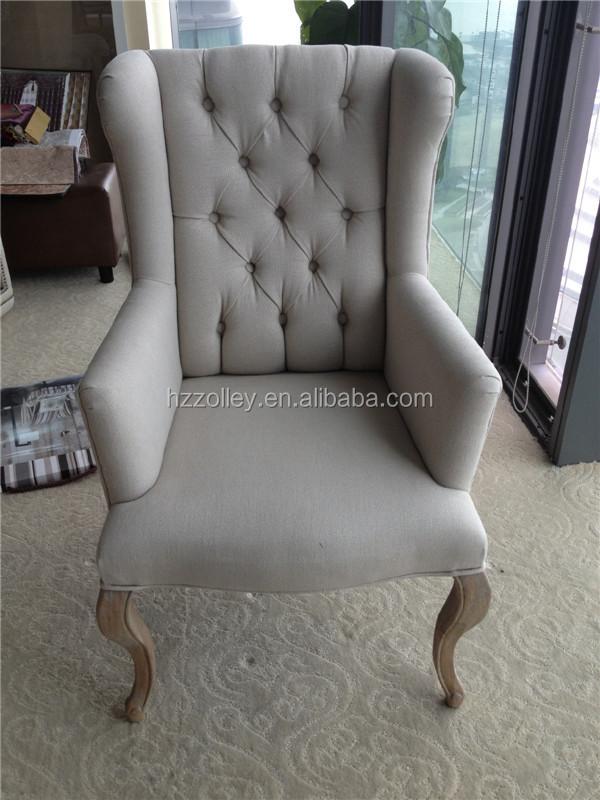 High Back Hotel Lobby Sofa Chair Club Recreational Elegant Single Seater