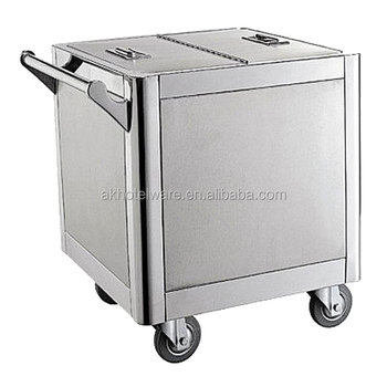 Stainless Steel Hot Food Transport Service Trolley Cart/Food Warmer Cart