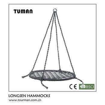 Garden round hanging hammock outdoor swing buy outdoor for Hanging round hammock