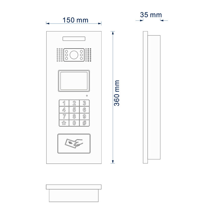 2020 Cat5 one cable multi apartment color video doorbell  Wired door phone video intercom unlock building access system