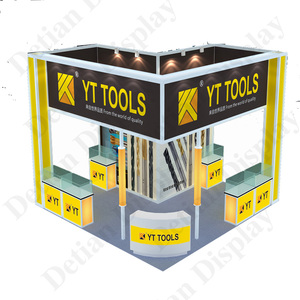 Detian offer 20x20 exhibition display system trade show platform fair stall