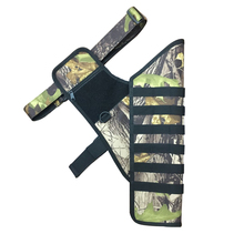Camo archery target quiver with waist hanging arrow quiver