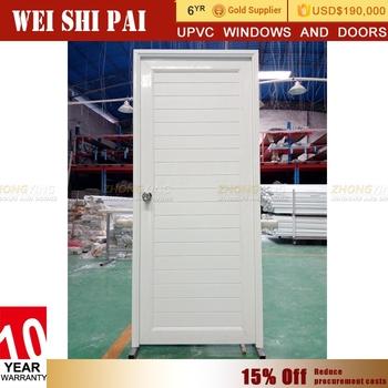Kerala Plastic Bathroom Louver Door Standard Size Design Pvc Toilet