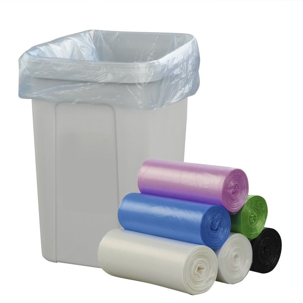 150 Counts 4 Gallon Clear Trash Bags Strong Wastebasket Liners for Bathroom Kitchen Small Trash Bags Kitchen Garbage Bags Office 15 Liter Trash Can Liners