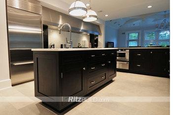 black shaker cabinets