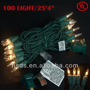 ul 100l holiday rice string light 253 with 2 replacement christmas mini light - Replacement Christmas Mini Light Bulbs