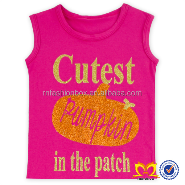 Wholesale Childrens Boutique Baby Vest A variety Of English Letters Sleeveless Cotton Frocks Designs Coat Baby Girls Clothes