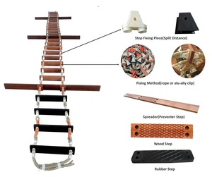 impa code 232031 wooden solas pilot's magnet ship rope spare parts for pilot rope ladders magnet rubber step ABS certificate