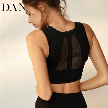 091f23e026 Fashion High Garde Sexy Mesh Stylish Padded Yoga Wear Women Quick Dry  Sports Bra Top