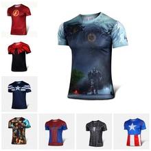 New 2015 Batman Spiderman Ironman Superman Captain America Winter soldier Marvel T shirt Avengers Costume Comics Superhero mens