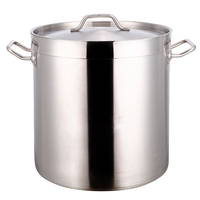 Hot sale professional 30 liter stainless steel cooking pot with durable handles
