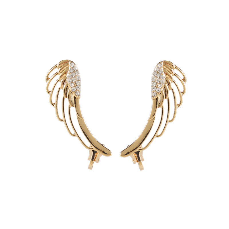 Wholesale High Quality Angle Wing Ear Cuff Earrings For Women, Gold and silver