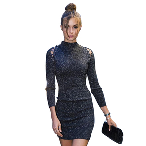 YX Fashion Europe Ladies Sexy Dress High Collar Womens Dresses Wholesale Clothing
