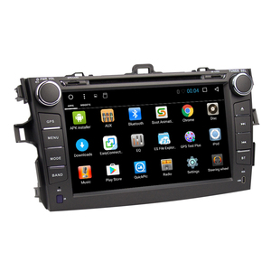 Eunavi 2 din Octa Core Android 8.12G 32G car dvd player for Toyota Corolla 2007 2008 2009 2010 2011 screen 8'' car stereo radio