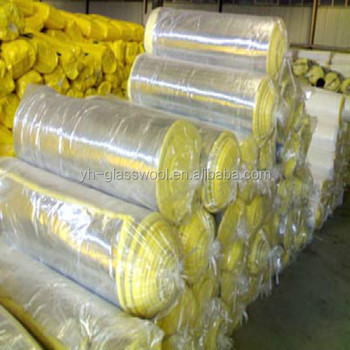 Glass wool for metal structure roofing insulation fiber for Glass fiber blanket insulation