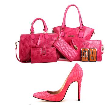 5ed9c99936e0 Y71 2018 розовое золото Мода простой и стильный фантазии женская обувь и  сумки комплект вечерние Сделано