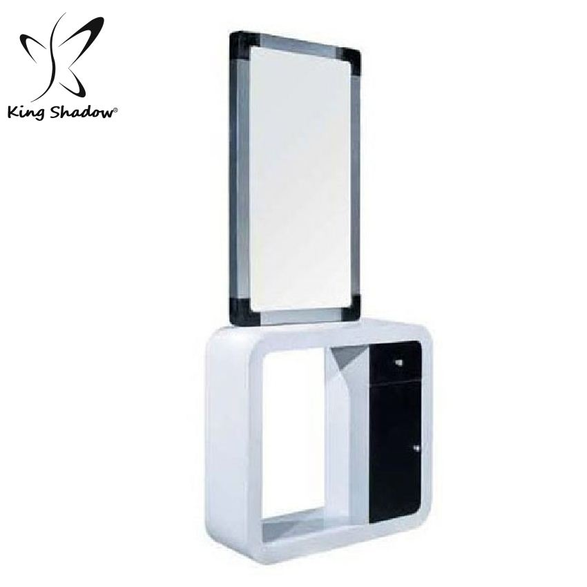 Wholesale double sided styling station Cheap salon station Barber shop mirrors
