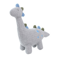 baby sleep toy knitted stuffed animals plush knitted bunny elephant dinosaur unicorn bear toy for toddlers