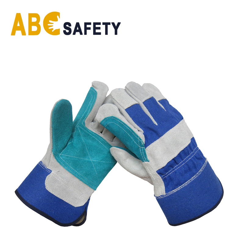 ABC SAFETY Reinforced green leather palm glove