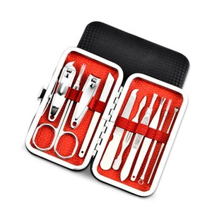 Stainless Steel 10pcs nail care set