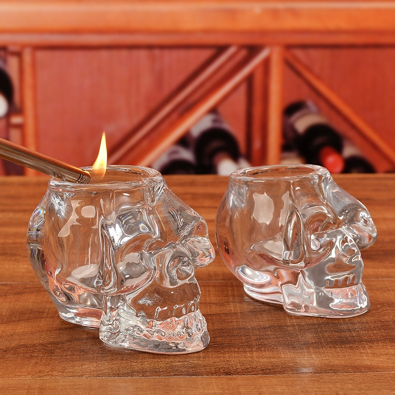 Best Promotion Crystal Skull Skeleton Candle Holder For Table Decoration