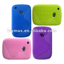 Colorful Soft Gel TPU S-line hybrid wave skin case cover for blackberry 8520 case new