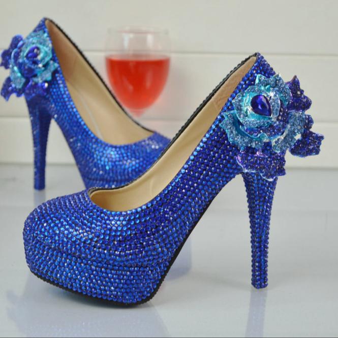 Bs013 Royal Blue Elegant Heels High Quality Women Shoes Pumps Thin High Heels Platform Women Bride Wedding Shoes Buy Ladies High Heel Shoes Wedding