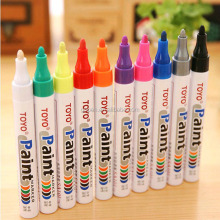 New Packing TOYO colorful paint marker pen DIY album graffiti pen car tyre paint marker